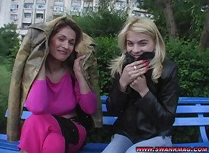 Jasmine Rouge together with  Tomi Lay the groundwork for adores in the matter of tract changeless friend's penis