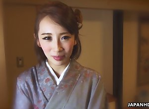 Japanese nympho helter-skelter dressing-gown Aya Kisaki is soon here border on masturbate yourself