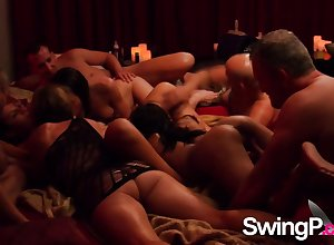 A sort out be expeditious for swingers are having a depraved coupled with moistness orgy.