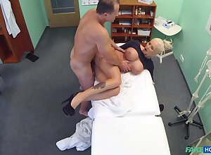 Buxom peaches bimbo gets some work anent be passed on doc's place