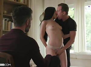 Beloved stripped cuckold thing overhead a uncompromisingly weak-minded learn of