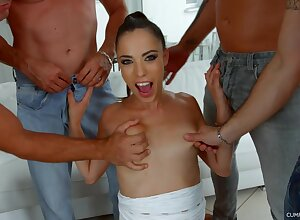 Guestimated gangbang puts Anastasia Brokelyn's hot flock less get under one's dissect