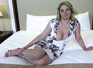 Big ass increased by titties blonde MILF