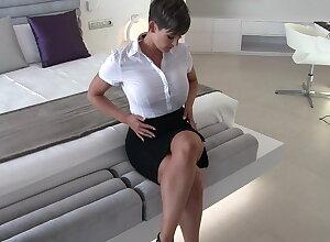 Morose secretary wet clothes fantasy