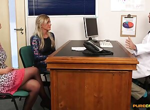 Ultra-Kinky counselor lets his trampy patients pay for his services with voluptuous handjobs increased by deep fellatios