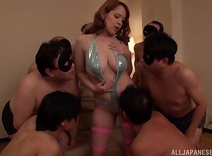 Voluptuous chick shared by a vast number of fuck men