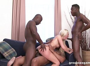 Blacked and made to swallow just about serious gangbang