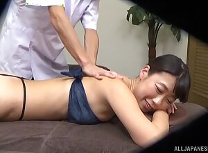 Sweet Asian girl gets massaged and fucked by a oversexed masseur